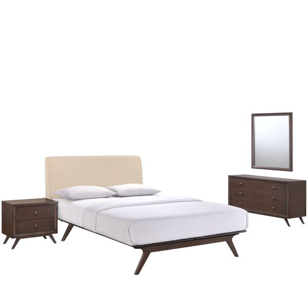 Modesto Queen Platform 4 Piece Bedroom Set by Langley Street
