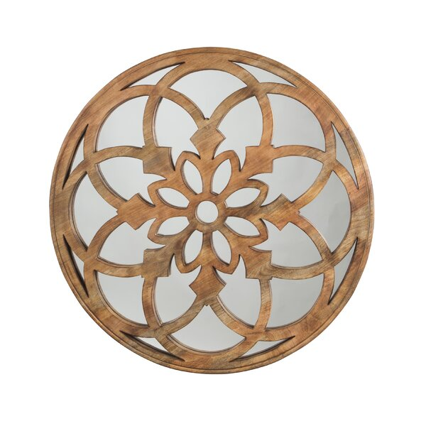 Alma Round Wood Frame Wall Mirror by Bloomsbury Market