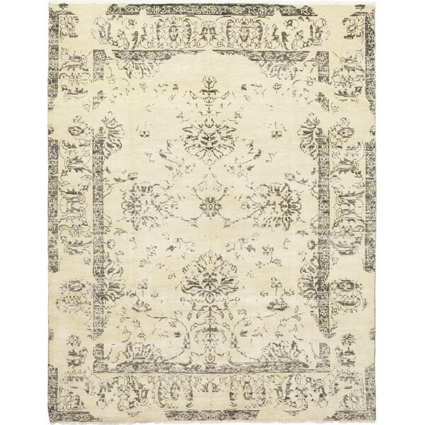 One-of-a-Kind Bayonville Hand-Knotted Wool Ivory Indoor Area Rug by One Allium Way
