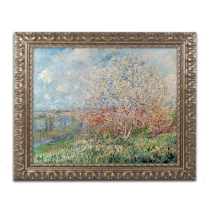 Spring 1880 by Claude Monet Framed Painting Print by Trademark Fine Art
