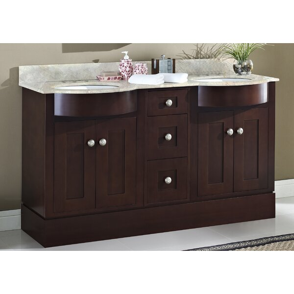 Kester 60 Rectangular Double Bathroom Vanity Set by Darby Home Co