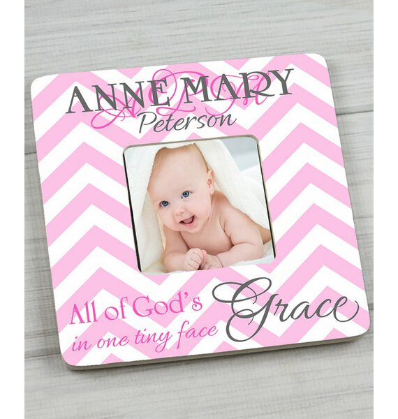 Chevron Personalized Picture Frame by Toad and Lily