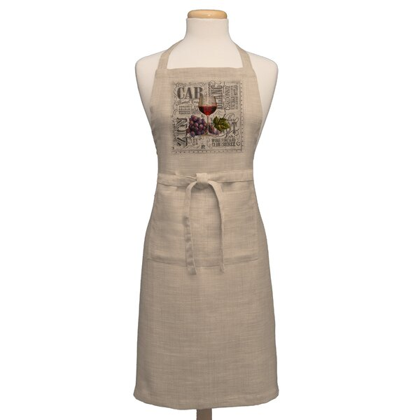 Wine Country Apron by Fleur De Lis Living