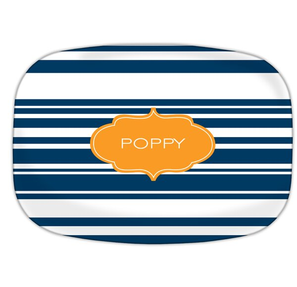 Block Island Personalized Melamine Plate by Dabney Lee