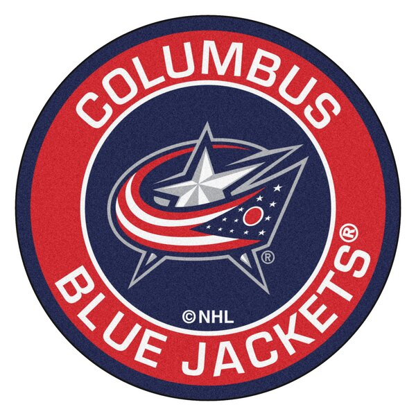 NHL Coloumbus Blue Jackets Roundel Mat by FANMATS