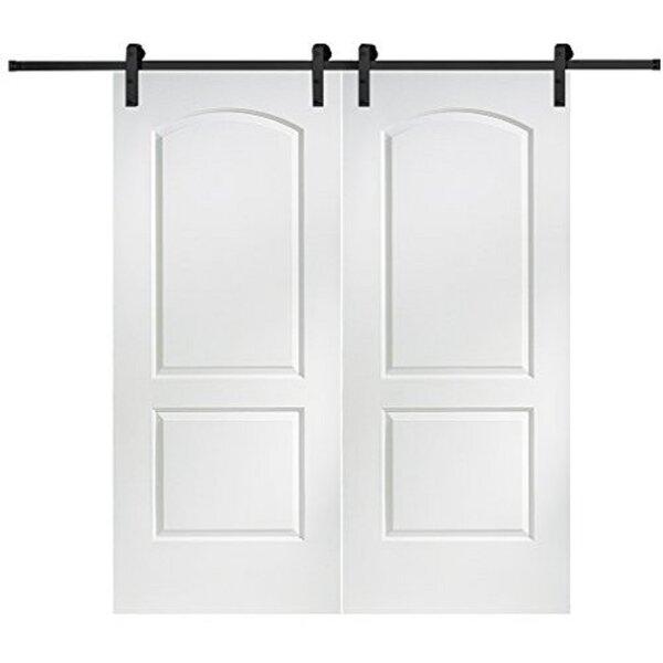 Caiman Solid MDF Panelled Slab Interior Barn Door by Verona Home Design