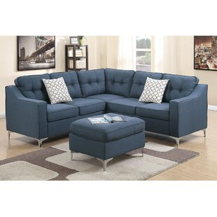 Almazan Symmetrical Sectional with Ottoman by Ivy Bronx