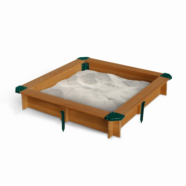 Interlocking 3.62 ft. Square Sandbox by Gorilla Pl