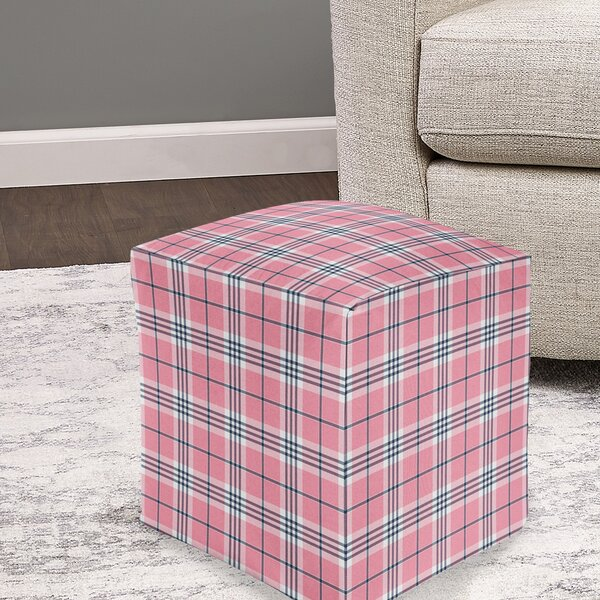 Minni Plaid Pouf by August Grove