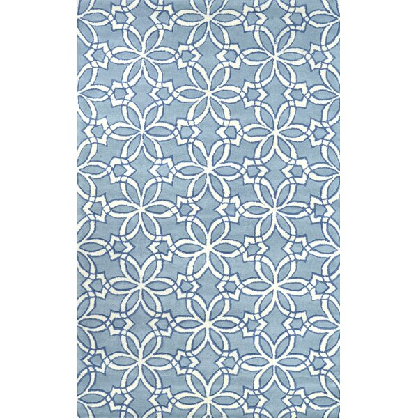 Filigree Hand-Tufted Wool Blue Area Rug by nuLOOM