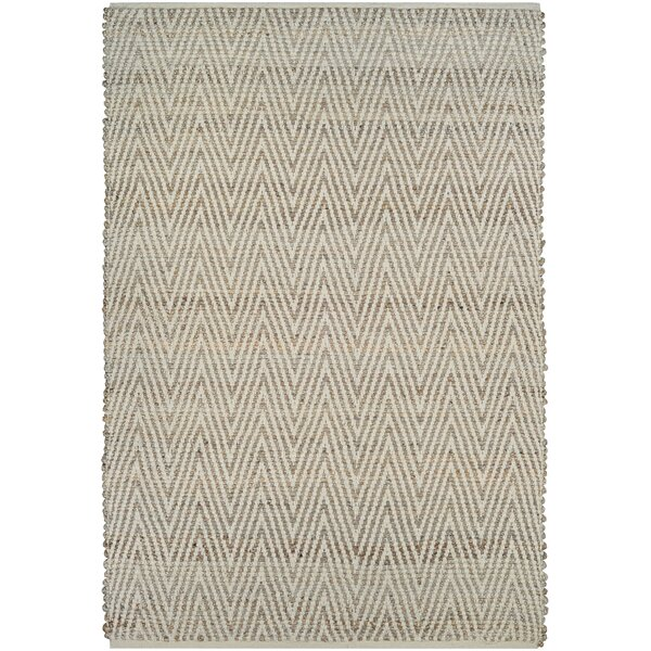 Yvaine Hand-Loomed Straw Area Rug by Highland Dunes