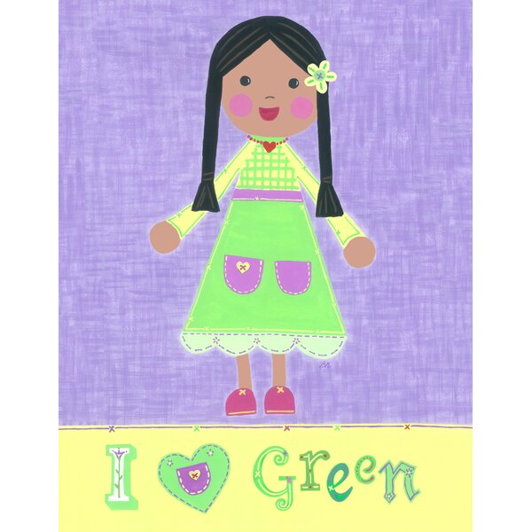 Green Girl - Starla Canvas Art by The Little Acorn