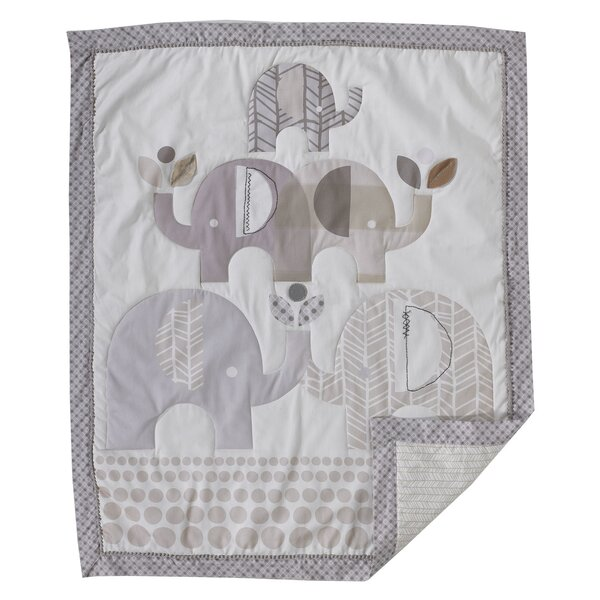 Elephants Baby Quilt by Lolli Living