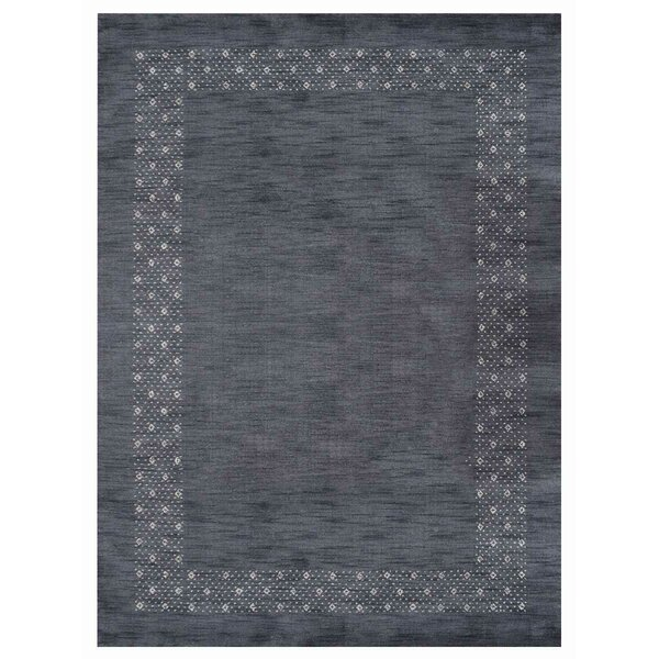 Elaina Hand-Knotted Wool Gray Area Rug by World Menagerie