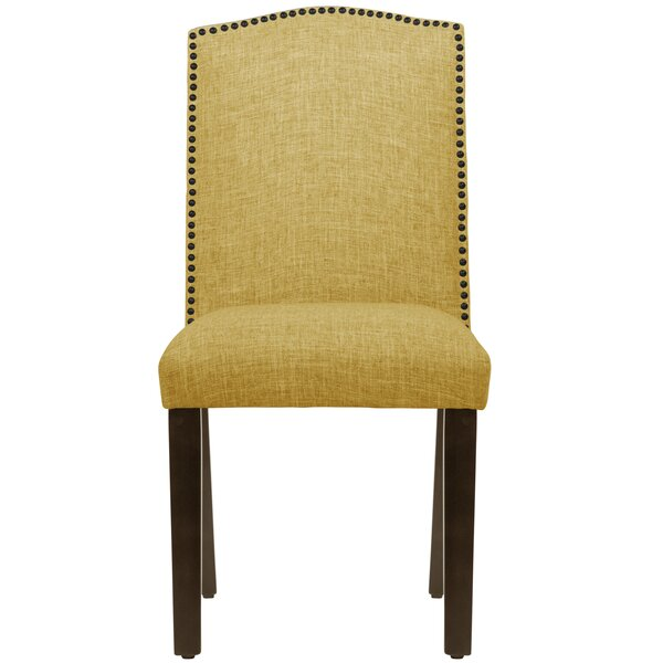 Bronstein Nail Button Camel Back Upholstered Dining Chair by Canora Grey