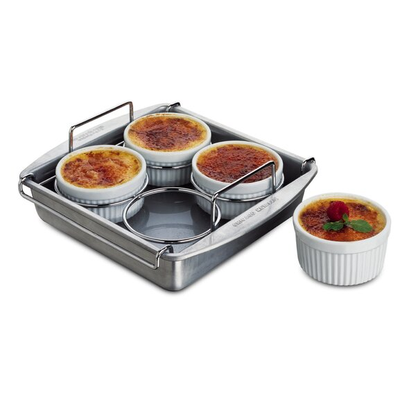 Square Non-Stick Crème Brulee (Set of 6) by Chicago Metallic