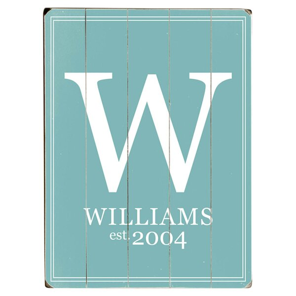 Personalized Family Monogram Textual Art Multi-Piece Image in Sky Blue/White by Artehouse LLC