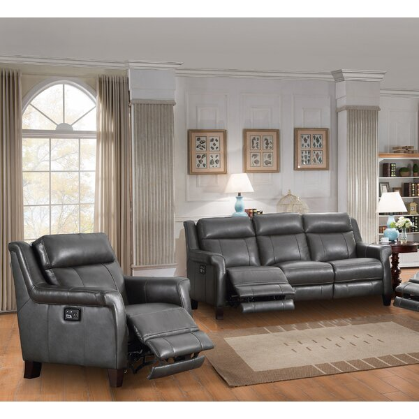 Kale Reclining 2 Piece Leather Living Room Set  By Red Barrel Studio Great Reviews