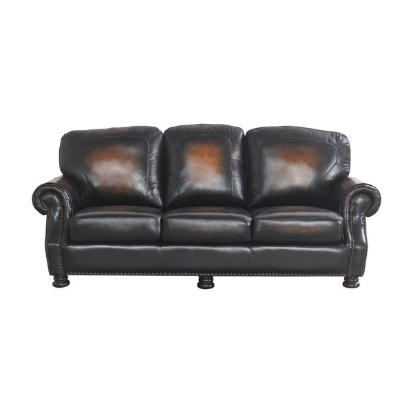 Damico Leather Sofa By Darby Home Co