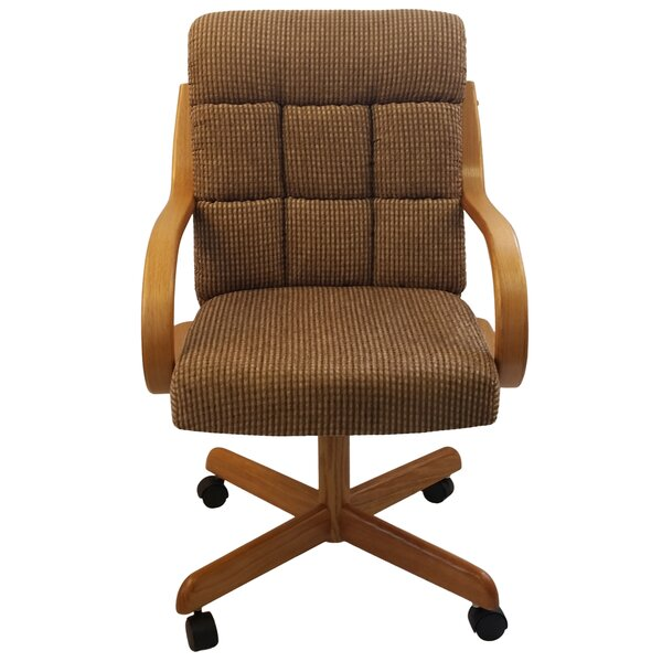 Northborough Upholstered Arm Chair In Medium Oak By Darby Home Co