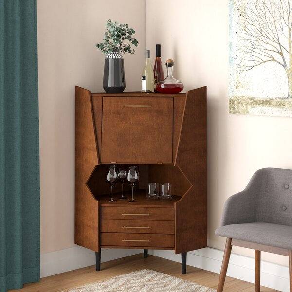 Hester Corner Bar Cabinet By Wrought Studio