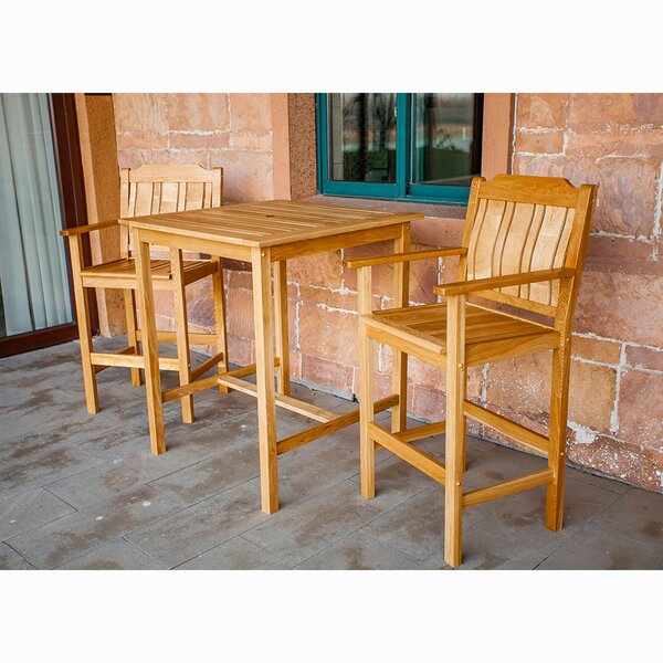 Rumfelt Bistro Patio 3 Piece Bar Height Dining Set by Millwood Pines