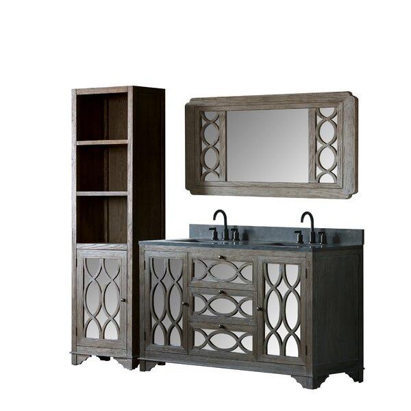 Velasco Solid Elm 60 Double Bathroom Vanity Set