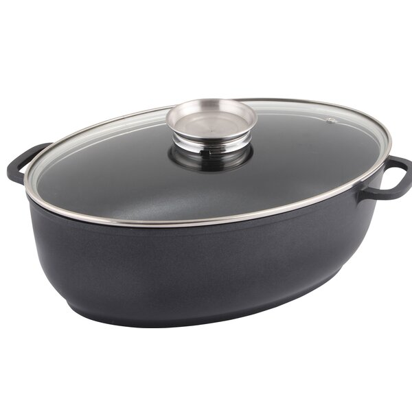 Strauss Non-Stick Oval Quan Tanium Induction Roaster by MyCuisina