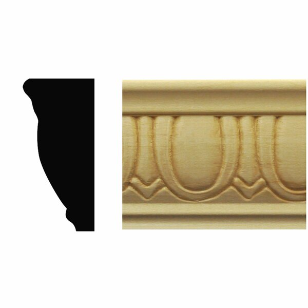 7/8 in. x 1-7/8 in. x 8 ft. Basswood Egg & Dart Chair Rail Moulding by Manor House