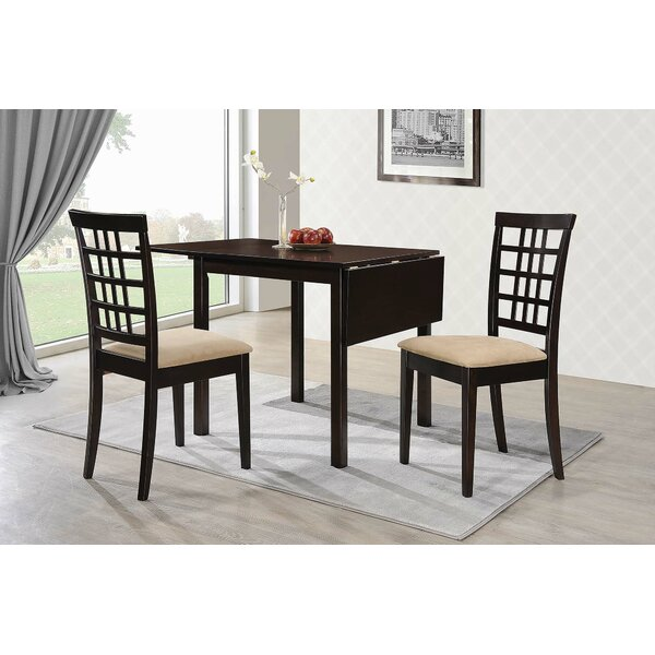 Pecoraro 3 Piece Drop Leaf Dining Table Set by Charlton Home Charlton Home