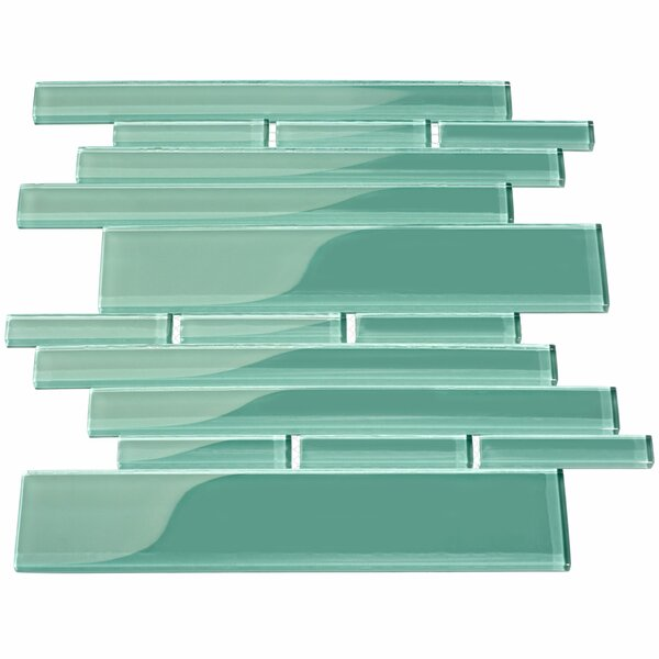 Club Random Sized Glass Mosaic Tile in Teal by Giorbello