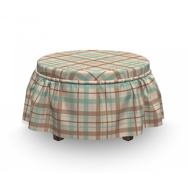 Scottish Country Tartan Ottoman Slipcover (Set Of 2) By East Urban Home