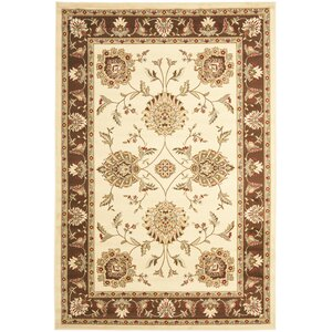 Ottis Ivory/Brown Area Rug