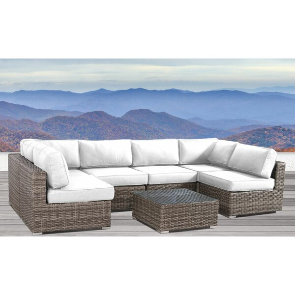 Colter 7 Piece Rattan Sunbrella Sectional Seating Group with Cushions by Sol 72 Outdoor