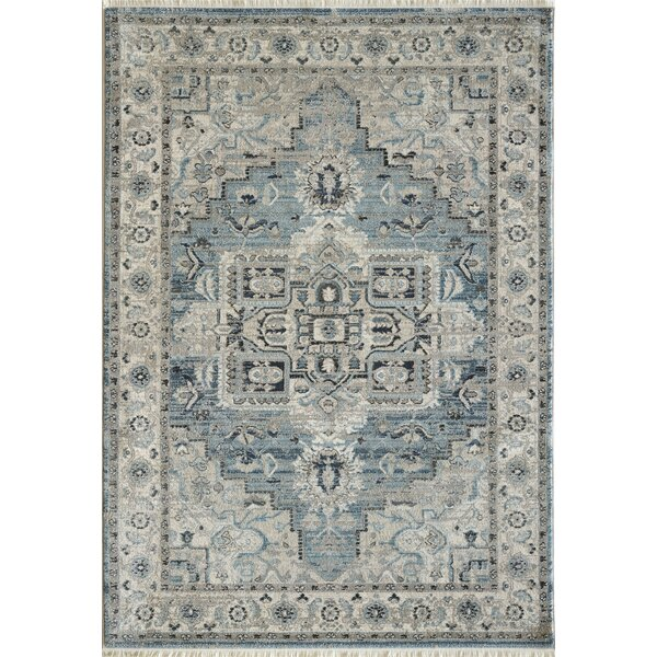 Omarion Light Blue/Cream Area Rug by Astoria Grand