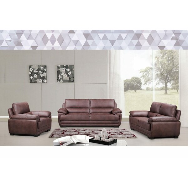 Django 3 Piece Living Room Set by Wrought Studio