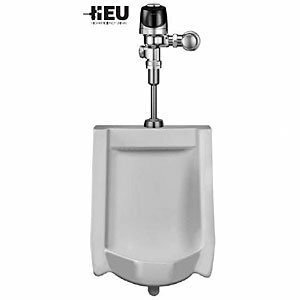 HEU Wall-Hung Urinal with Optima Plus Sensor Flush Valve by Sloan