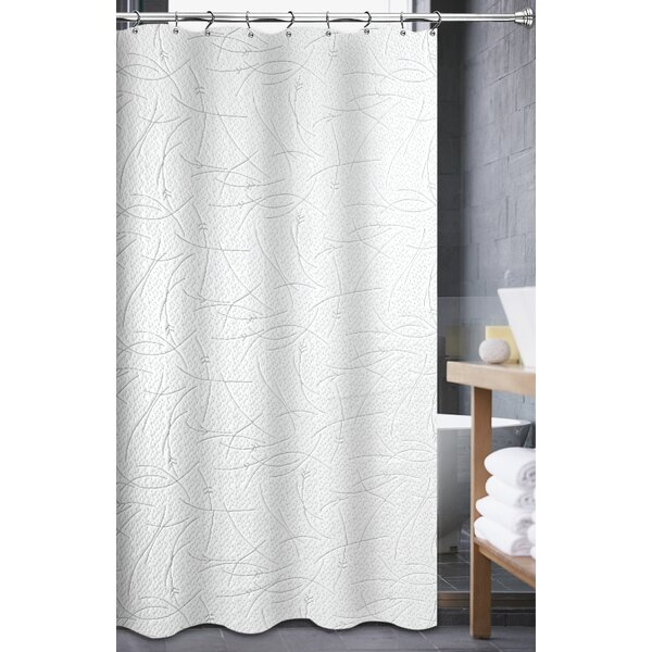 Mohr Matelasse Shower Curtain by Ebern Designs