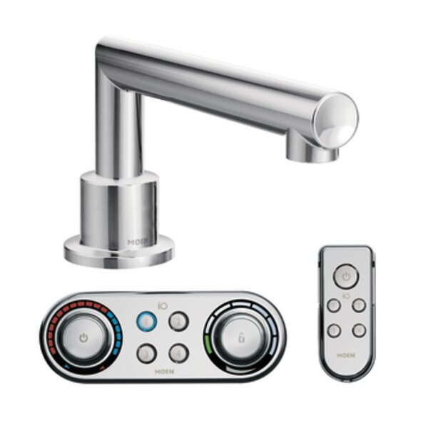Arris Deck Mount Countertop Tub Faucet Trim With Optional Side Spray by Moen