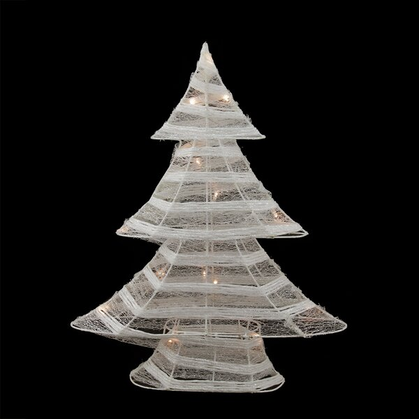 Battery Operated Glittered LED Lighted Christmas Tree Table Top Decoration by Northlight Seasonal
