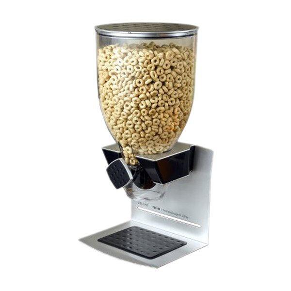 Single Premier Designer Edition Dry Food 17.5 Oz. Cereal Dispenser by Zevro