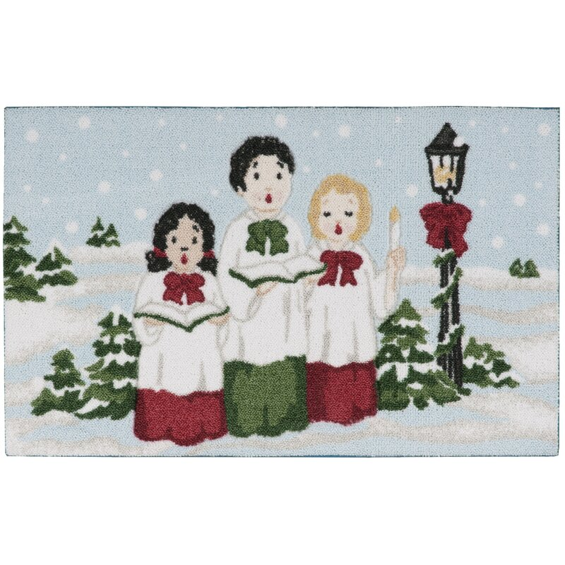 Kathy Ireland Home Gallery Christmas Carolers Light Blue