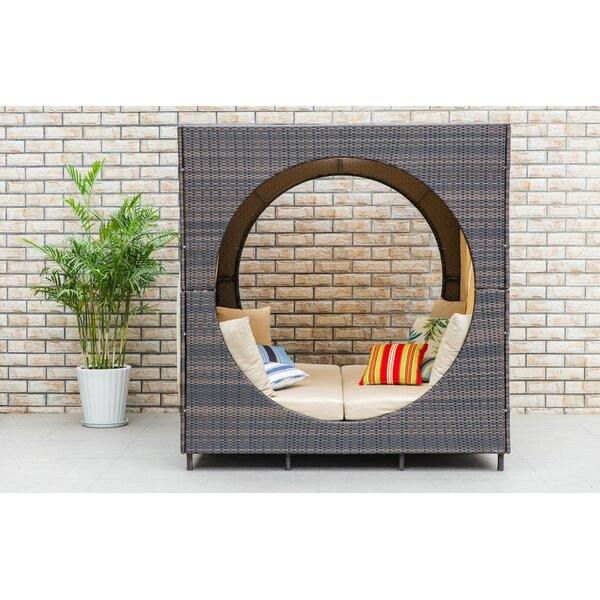 Chessani Cube Patio Daybed with Cushions by Brayden Studio