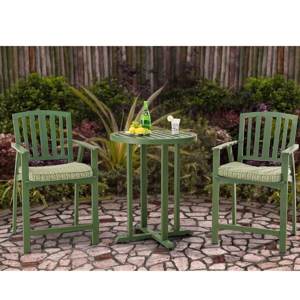 Barrister Lane 3 Piece Bistro Set with Cushions by August Grove