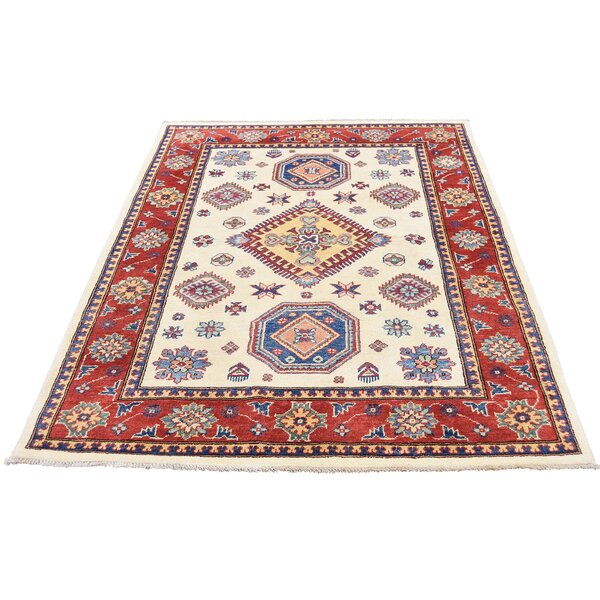 One-of-a-Kind Tillett Special Hand-Knotted Ivory Area Rug by Millwood Pines