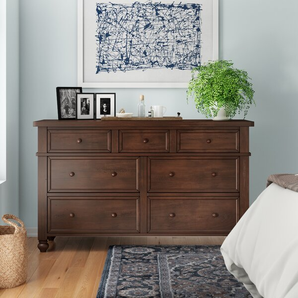 Donalsonville 7 Drawer Double Dresser by Three Posts