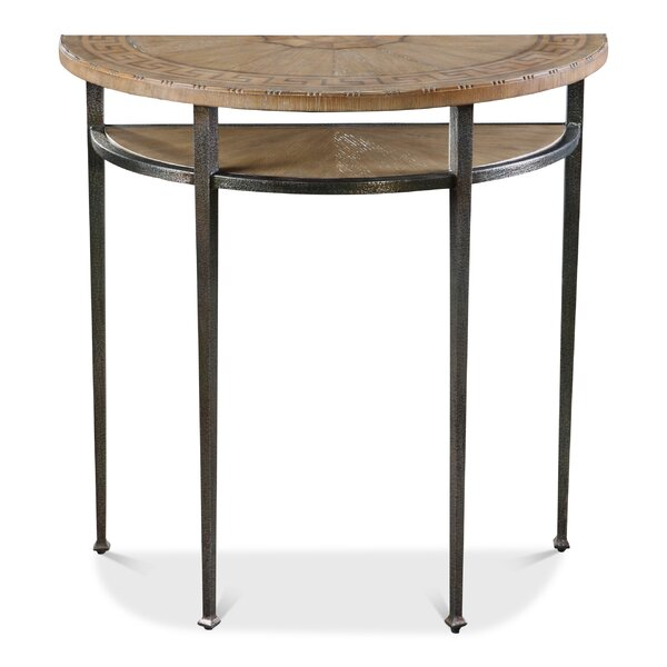 Thaddeus Greek Key Console Table By 17 Stories