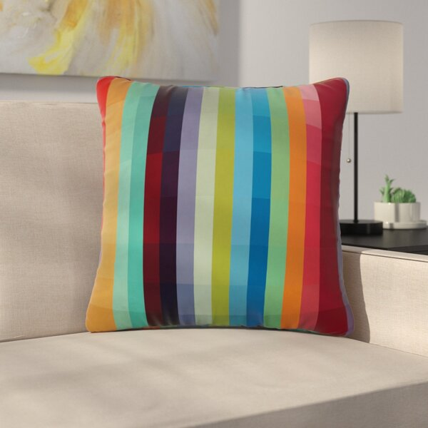 Modern Square Throw Pillow by East Urban Home