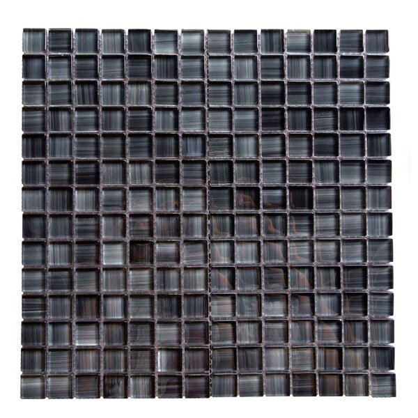 Handicraft II 0.75 x 0.75 Glass Mosaic Tile in Glazed Lagoon by Abolos