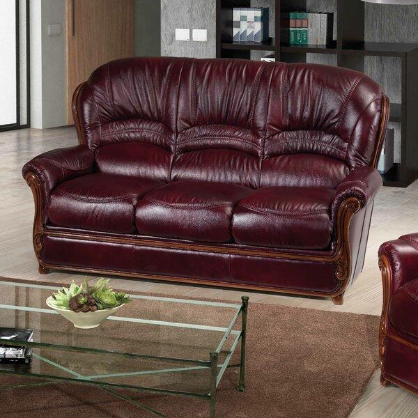 Leslie Leather Sofa by Fleur De Lis Living